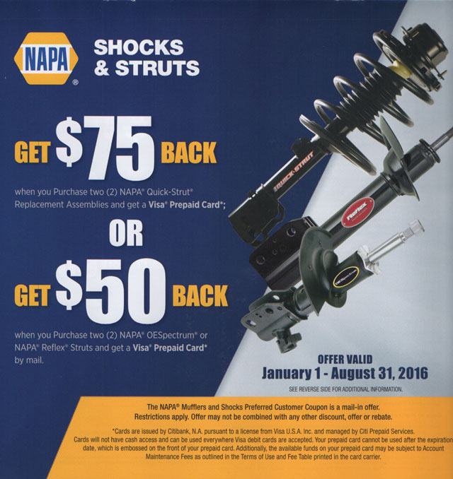 Shocks and Struts Special Offer